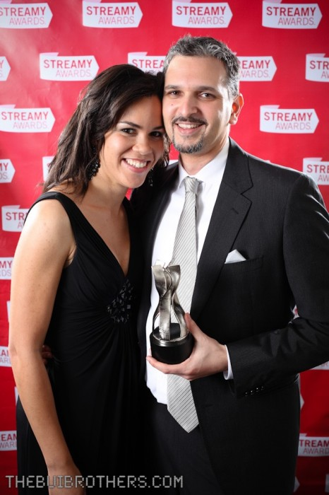 Zadi Diaz and Steve Woolf photo at the Streamy Awards
