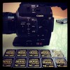 Canon C300 brief review - hoodman CF cards